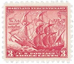 Scott #736 3-Cent Maryland Tercentenary Single - MNH.jpg