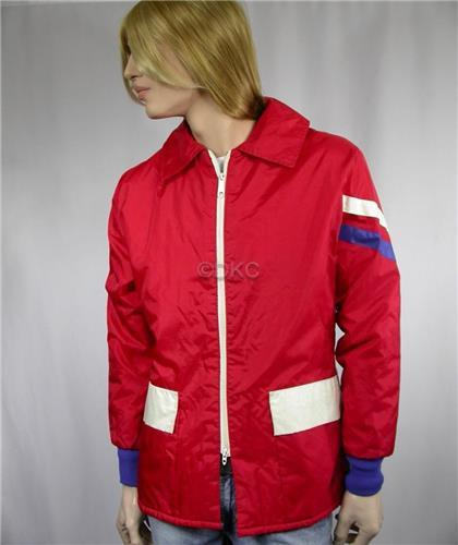 Vintage Polaris Snowmobiles Fall-Winter Jacket - Red White and Blue - Made in the U.S.A.