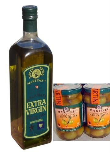Martinis Olive Oilx1 and 2 Green Olives.jpg