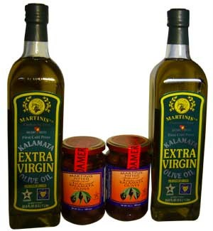 Martinis Greek Extra Virgin Olive Oil & Kalamata Olives, SuperOlive
