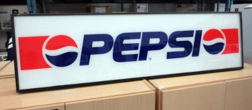 Electric Pepsi advertising sign