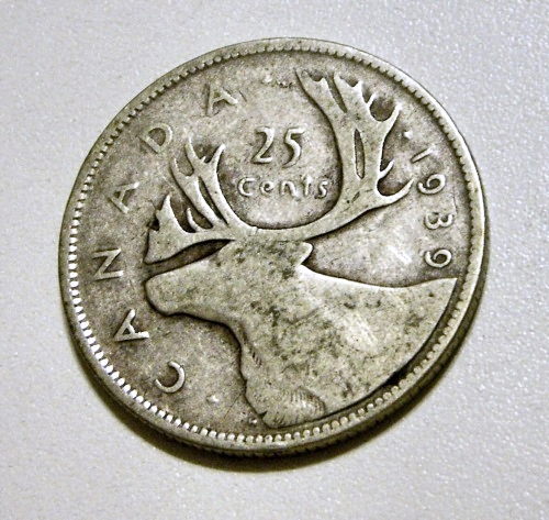 1981 canada 25 cent coin