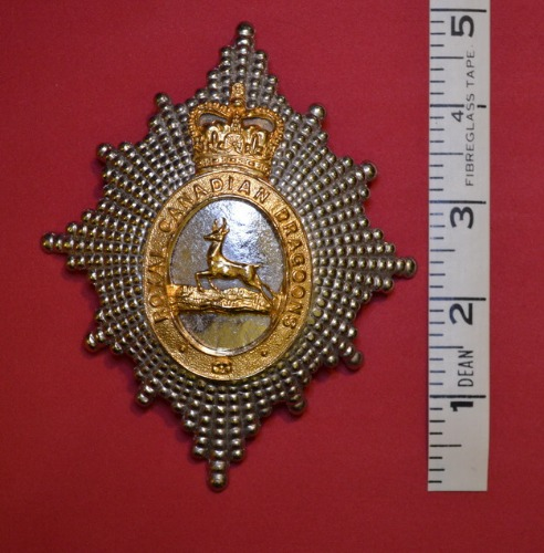 Royal Canadian Dragoons Helmet Plate - Front