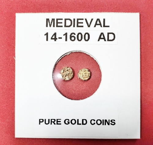 Medieval 14-1600 AD Pure Gold Coins (Obverse)