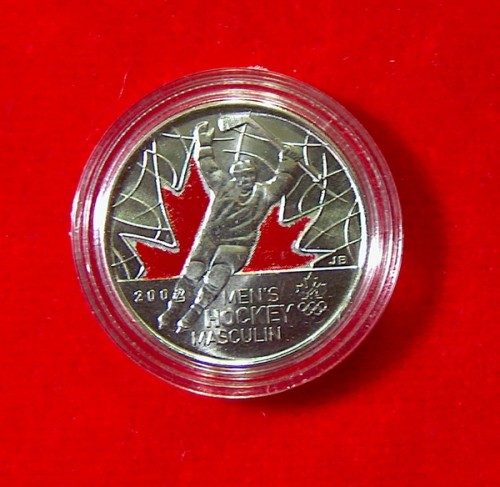 2009 Canada Quot 2010 Olympics Mens Hockey Quot 25c Coin Colored Brg Amusements Collectables
