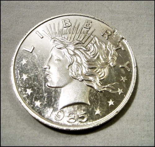 1985 Usa American Silver Eagle 1oz Brg Amusements