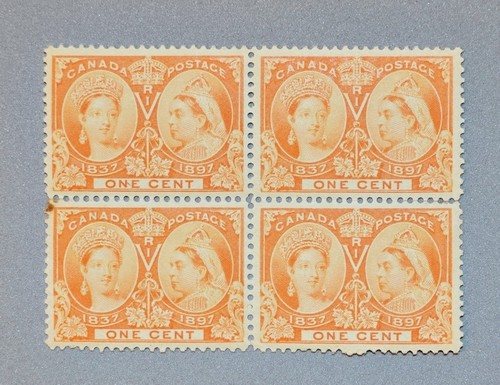 Canada 1897 Queen Jubilee Block 4 Scott #51 .jpeg