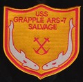 US Navy ARS-7 USS GrappleRescue Salvage Ship Military Patch.jpeg