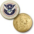 Homeland Security - America Unites MerlinGold® Enamel Challenge Coin.jpeg