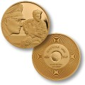 Elvis Gold Tone Stuck On You 1960 Challenge Coin.jpeg