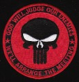 US Navy SEAL God Will Judge Our Enemies We'll Arrange The Meeting Military Patch Red.jpeg