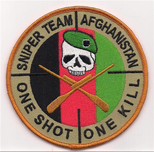 Us Army Sniper Team Afghanistan One Shot One Kill Patch
