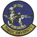 US Navy VF-124 Tomcat University Gunfighters Military F-14 Patch.jpeg