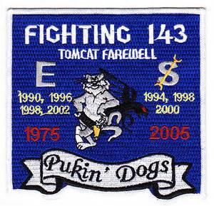 US Navy VF-143 Aviation Fighter Squadron One Four Three Military Tomcat F-14Patch.jpeg