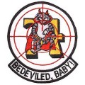 United States Navy Bedeviled Baby Tomcat F-14 Patch PM5348.jpeg