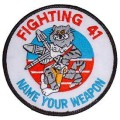 United States Navy Fighting-41 Name Your Weapon Tomcat F-14 Patch PM5288.jpeg