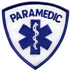 Patch Paramedic Logo Blue White Militaryplus