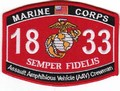 USMC Assault Amphibious Vehicle Crewman 1833 MOS Patch.jpeg