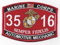 USMC Automotive Mechanic 3516 MOS Patch.jpeg
