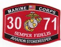 USMC Aviation Storekeeper 3071 MOS Patch.jpeg