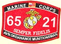 USMC AVN Ordanance Munitionsman 6521 MOS Patch.jpeg