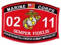 USMC Counterintelligence Humint Specialist 0211 MOS Patch.jpeg