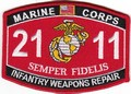 USMC Infantry Weapons Repair 2111 MOS Patch.jpeg