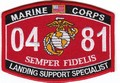 USMC Landing Support Specialist 0481 MOS Patch.jpeg