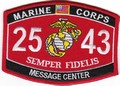 USMC Message Center 2543 MOS Patch.jpeg