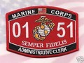 USMC MOS 0151 Administrative Clerk Patch.jpeg