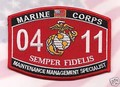 USMC MOS 0411 Maintenance Management Patch.jpeg
