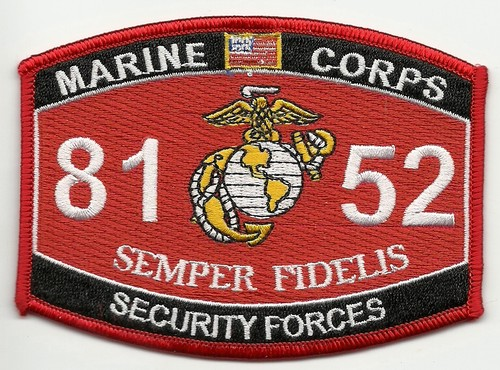 usmc mos 8152 security forces patchjpeg