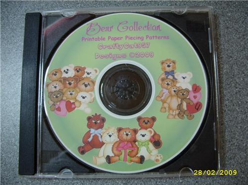 NEW BEAR COLLECTION 33 PAGES PAPER PIECING + SVG CUTTING FILES BY CRAFTYCAT957