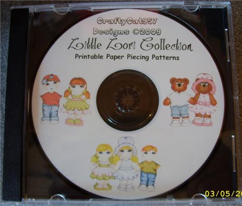 LITTLE LORI KIDS COLLECTION 19 PAGES PAPER PIECING BY CRAFTYCAT957 DESIGNS