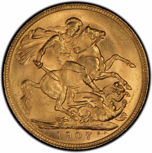 Australia 1909-P Gold Sovereign PCGS MS63+ 2