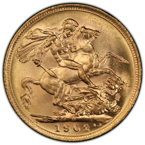 Australia 1902-M Gold Sovereign S-3971 PCGS MS-62+ 1