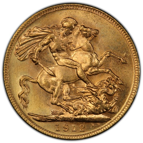 Australia 1912-M Gold Sovereign S-3999 PCGS MS-64 3