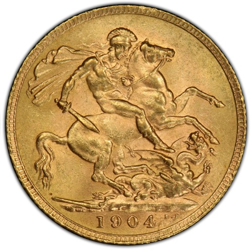 Great Britain 1904 Gold Sovereign NGC MS-63 3