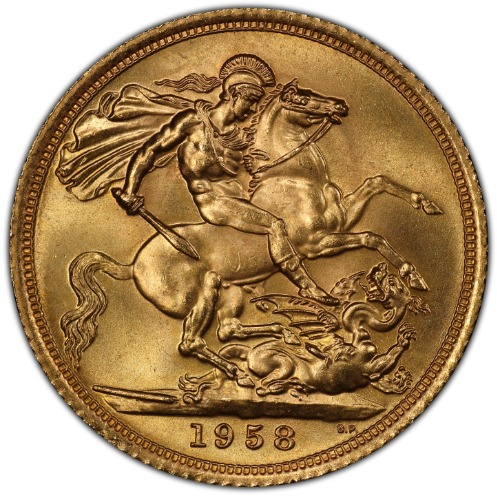 Great Britain 1958 Gold Sovereign NGC MS-66 4