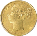 Australia 1872-S Gold Sovereign Shield Reverse 3