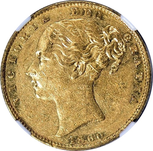 Great Britain 1860 Gold Sovereign Inverted 1 (2)