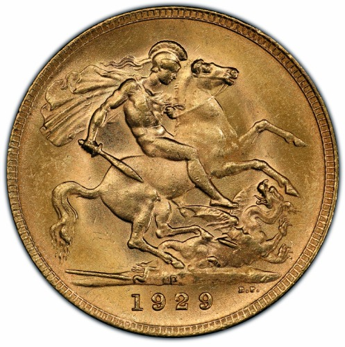 Australia 1929-P Gold Sovereign KM-32 PCGS MS-64 1