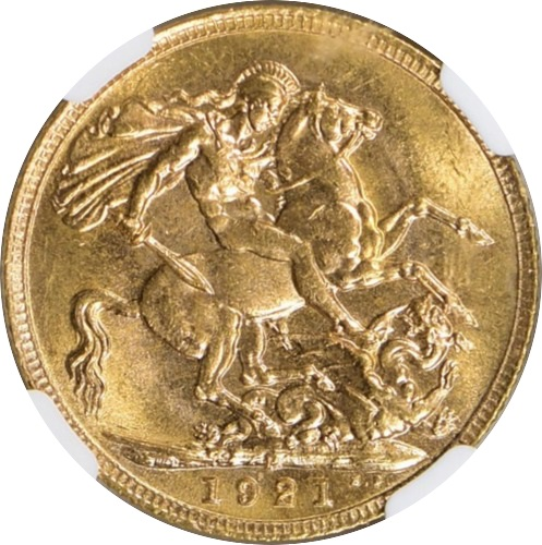 Australia 1921-P Gold Sovereign KM-29 NGC MS-65 3