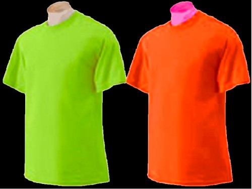 Neon orange mens unisex t shirt s xxl for Neon green shirts for men