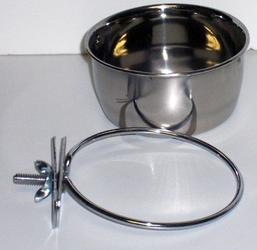 Stainless Steel Coop Cups- Clamp On 30 oz.