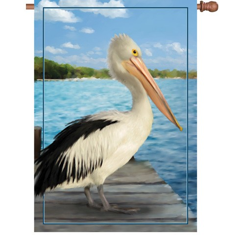 Premier Kite's  House Flag- American White Pelican #52971  28x40 in.