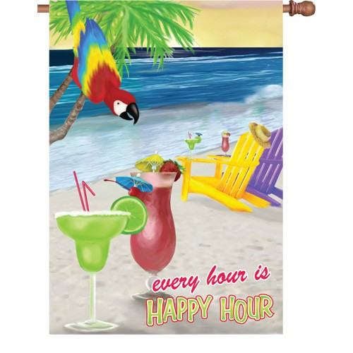 Premier Kite's  House Flag- EVERY HOUR IS HAPPY HOUR   #52716  28x40 in.
