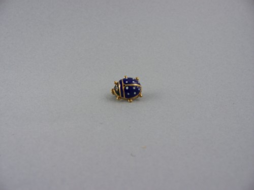 18 Kt Gold Cloisonne Ladybug Pin From Italy