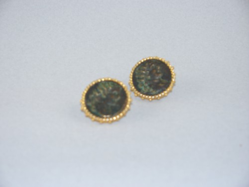 24 Kt Gold Vermeil Grecian Coin Earrings By Jaded On Madison Avenue