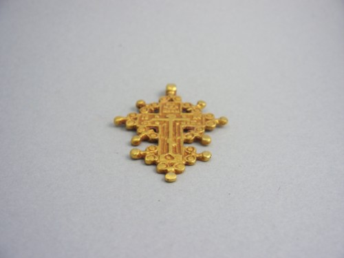 14 Kt Gold Plated Cross From Vatican Rome (Vintage) 1970'S